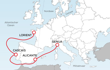 The Ocean Race Europe Route