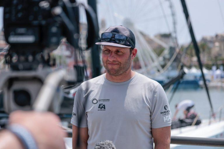 Europe, Genoa, Offshore Team Germany, arrivals, finish, interviews, leg 3