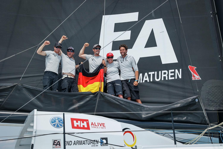 Europe, Genoa, IMOCA, Offshore Team Germany, arrivals, celebrations, finish, leg 3
