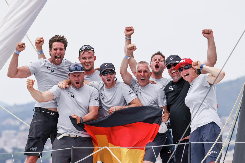 Coastal, Europe, Genoa, IMOCA, Offshore Team Germany, celebration, winners